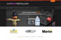 123Blacklights.com Magento Website